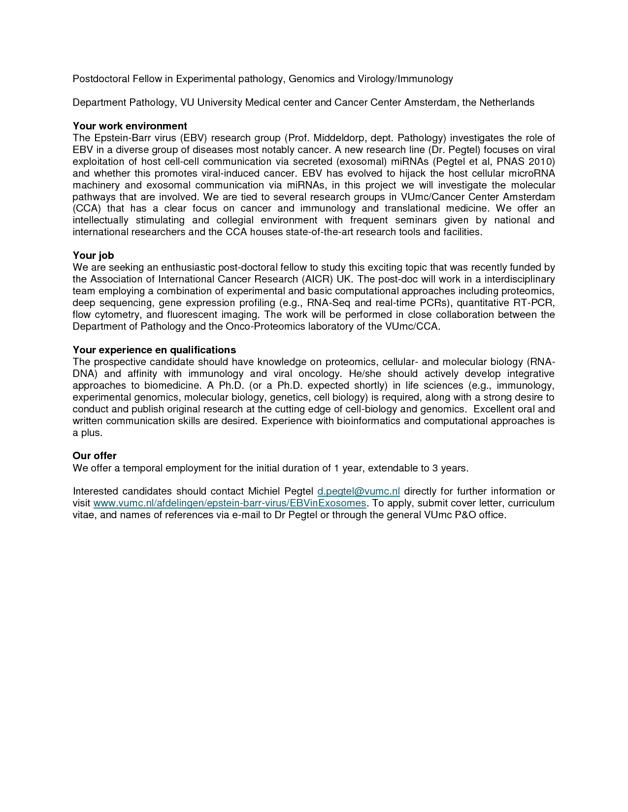 Postdoc Cover Letter Template - Application Letter Sample Biology Postdoc Cover Letter Example