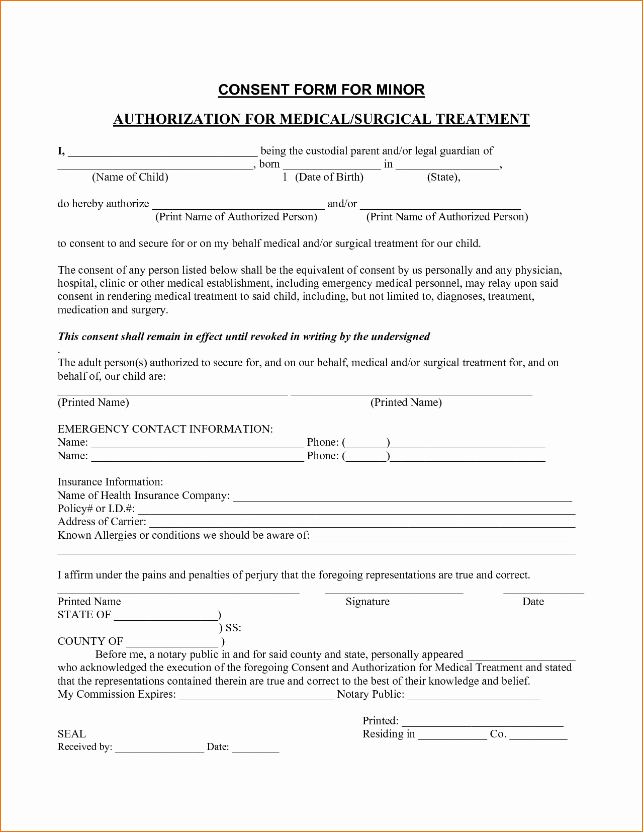 Medical Consent Letter for Grandparents Template - Authorization to Release Information Template Beautiful Medical