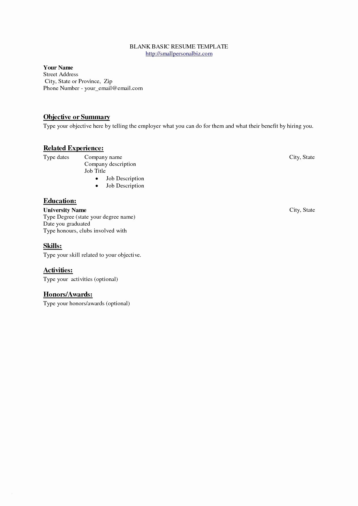 Resume And Cover Letter Template Microsoft Word Collection