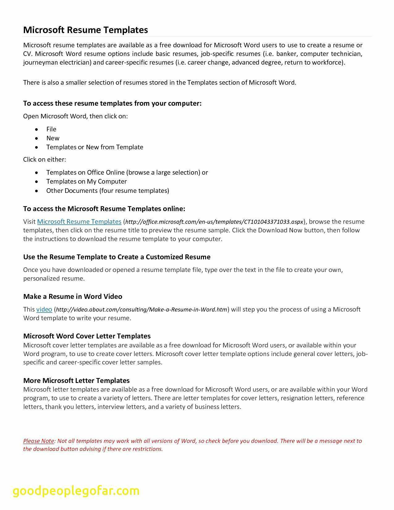 Simple Cover Letter Template Word - Basic Resume Templates Word Aurelianmg
