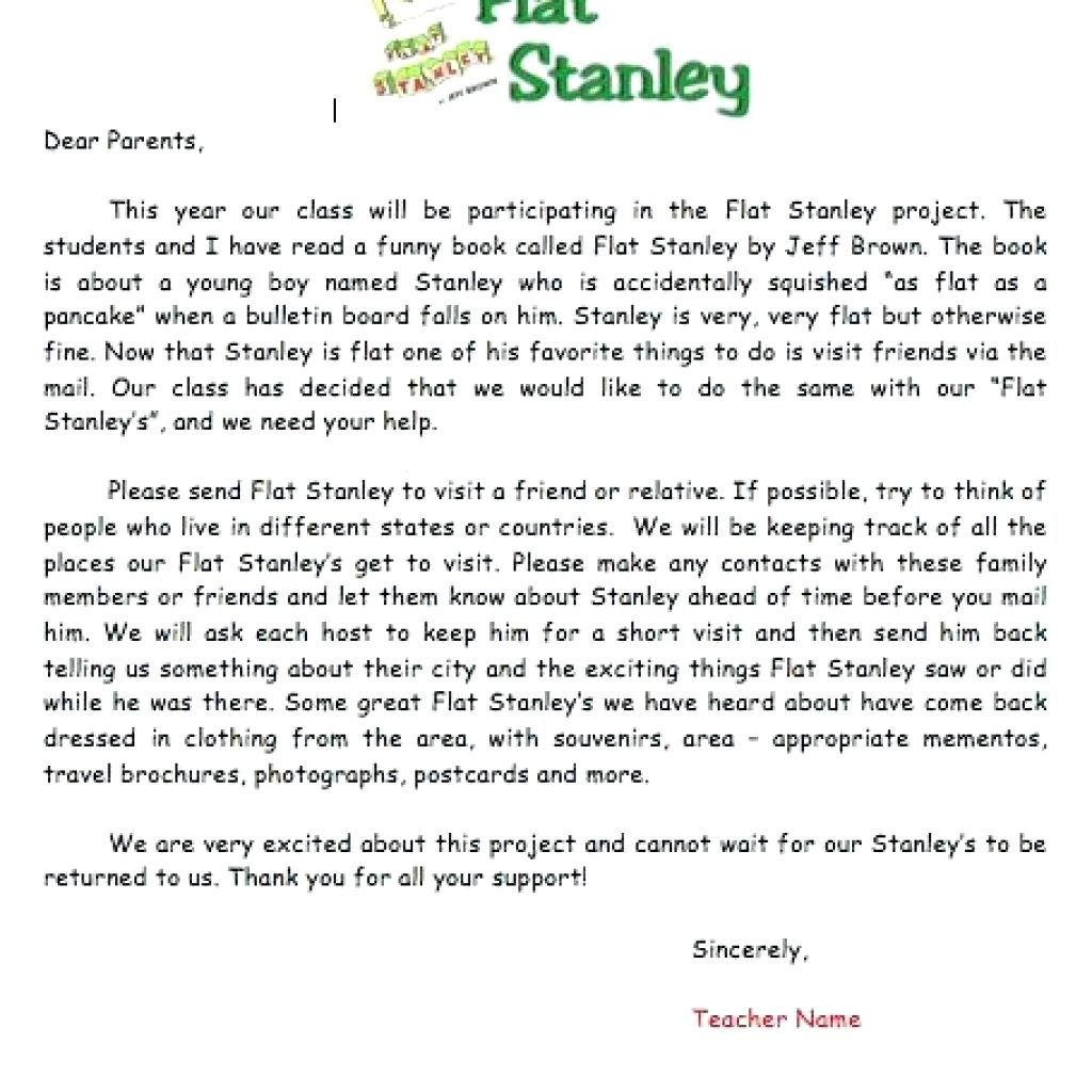 Flat Stanley Letter Template - Beautiful Flat Stanley Template Clothes S Professional Resume