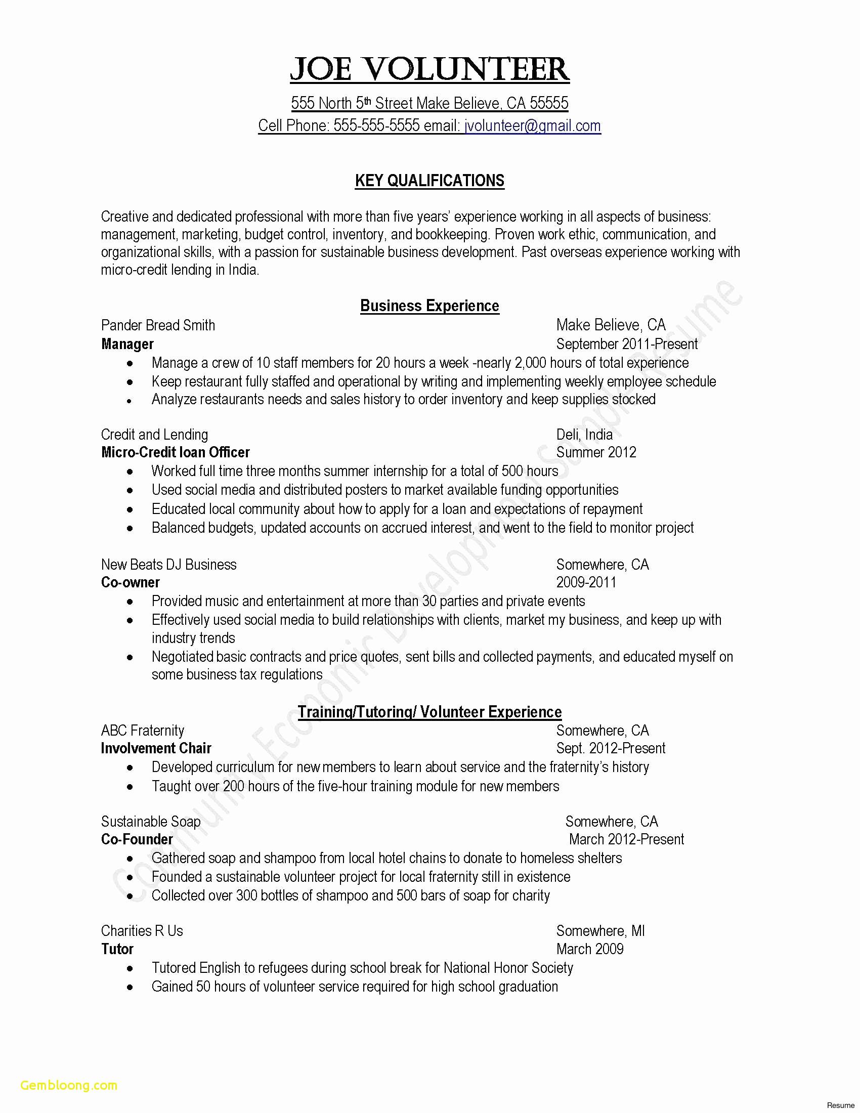 Business Presentation Letter Template - Best Business Resume Template New format Cover Letter for Resume