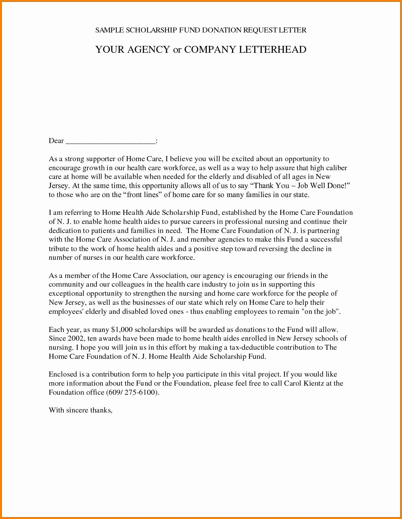 Charity Donation Request Letter Template - Best Donation Letter Template