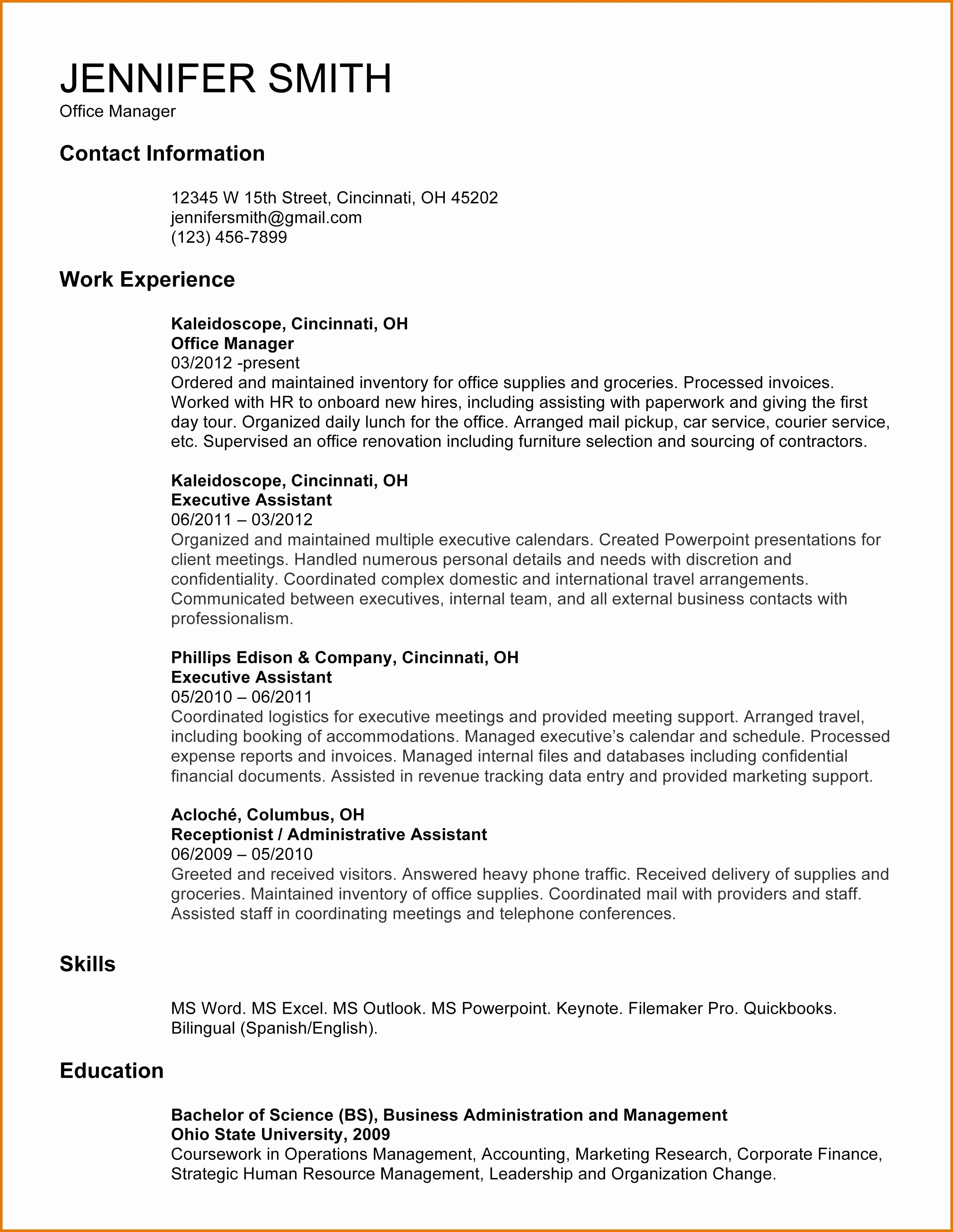 Executive Cover Letter Template Word - Best Resume and Cover Letter Template