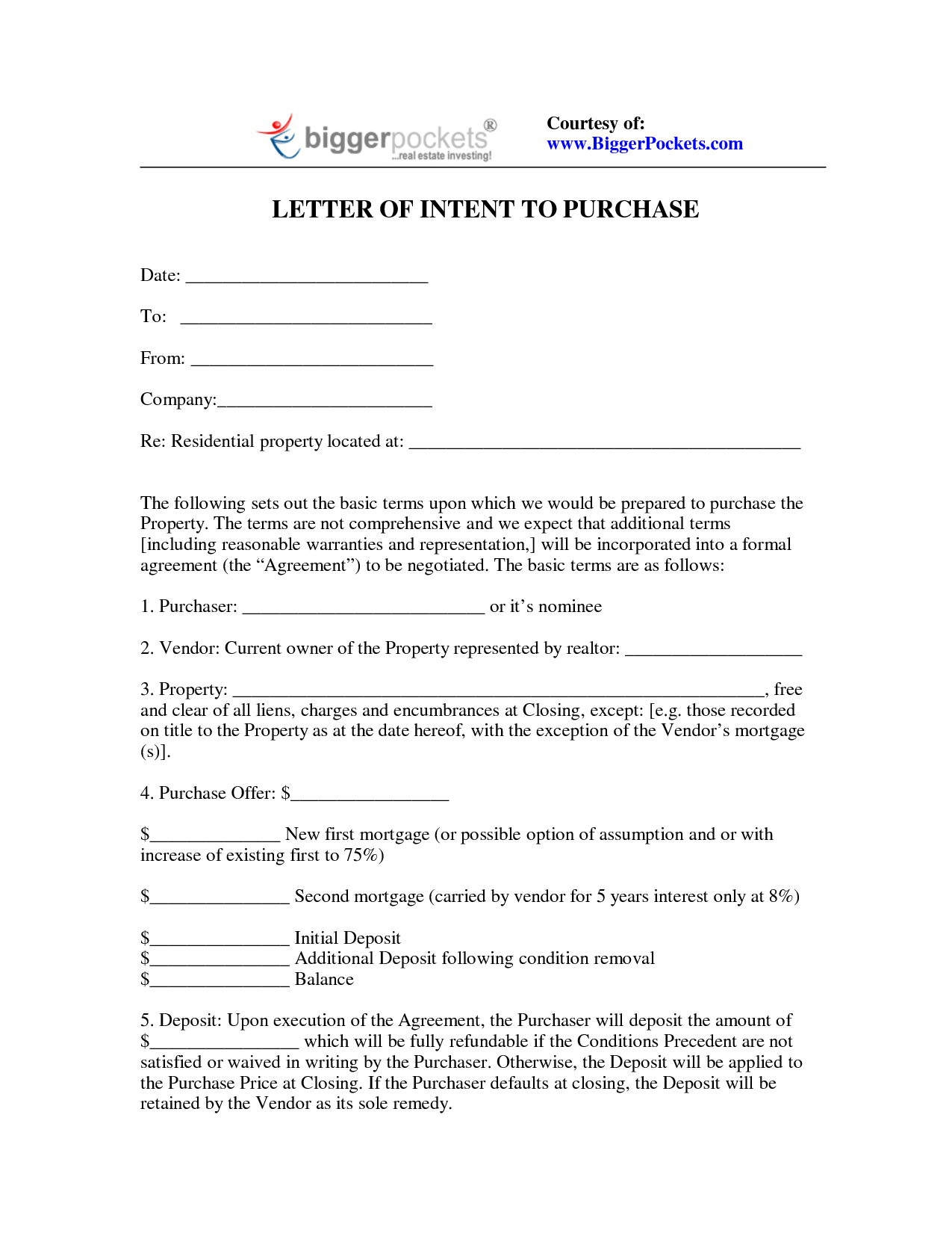 Letter Of Intent Investment Template - Best Sf Template Proposal Property Buying Letter Intent for