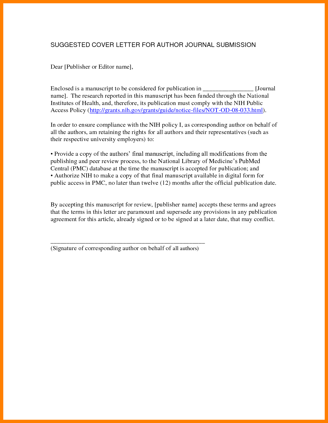 Manuscript Cover Letter Template - Best solutions 7 Manuscript Cover Letter Example for Your Cover