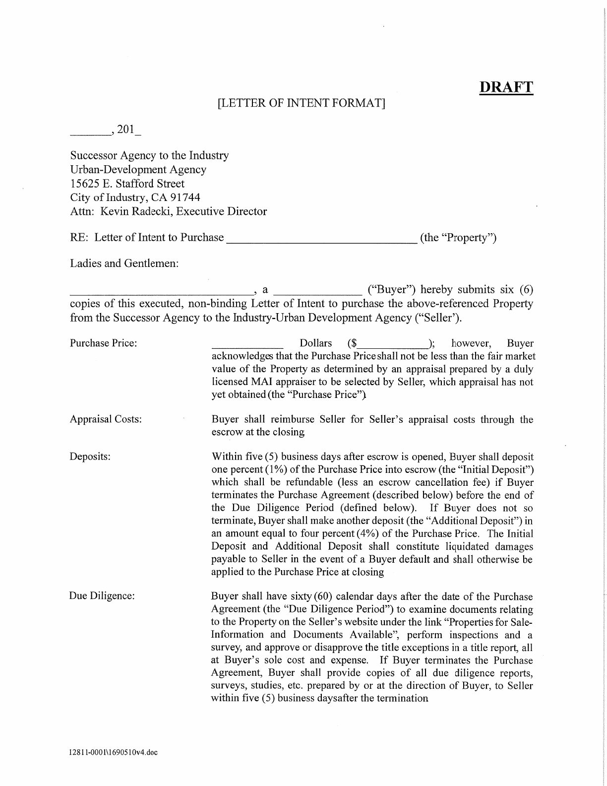 Non Binding Letter Of Intent Template - Bg1 Download Letter Intent Template for Construction Project Free