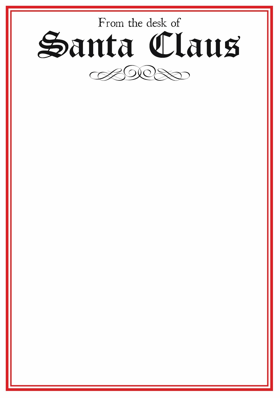 photograph about Free Printable Letter From Santa Template called No cost Printable Letter Versus Santa Template Phrase Range