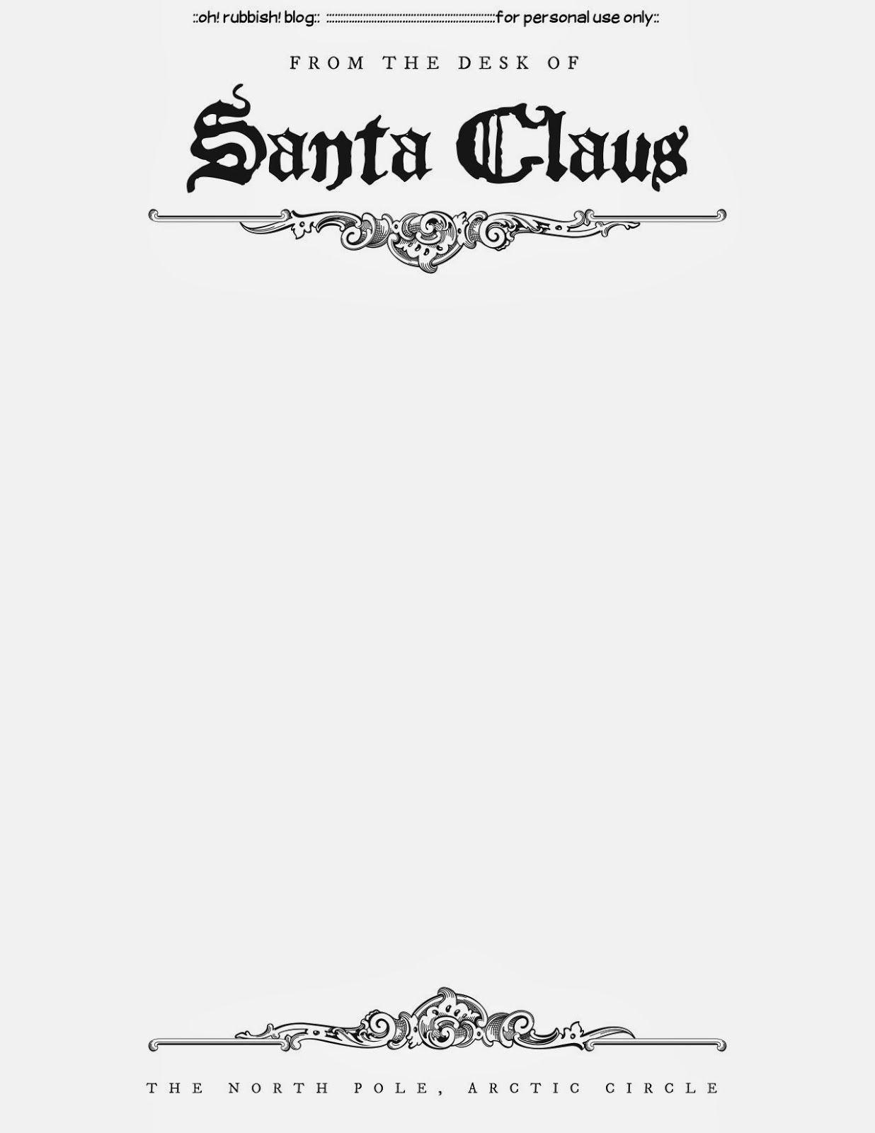 Santa Response Letter Template - Blank Letter From Santa Template Acurnamedia