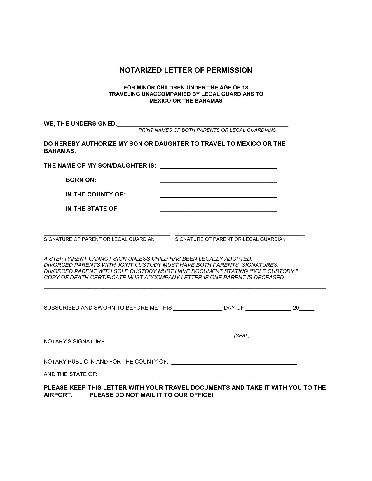 Letter to Allow Child to Travel Template - Booyahsuswp Content Tabla Period Consent Letter Image