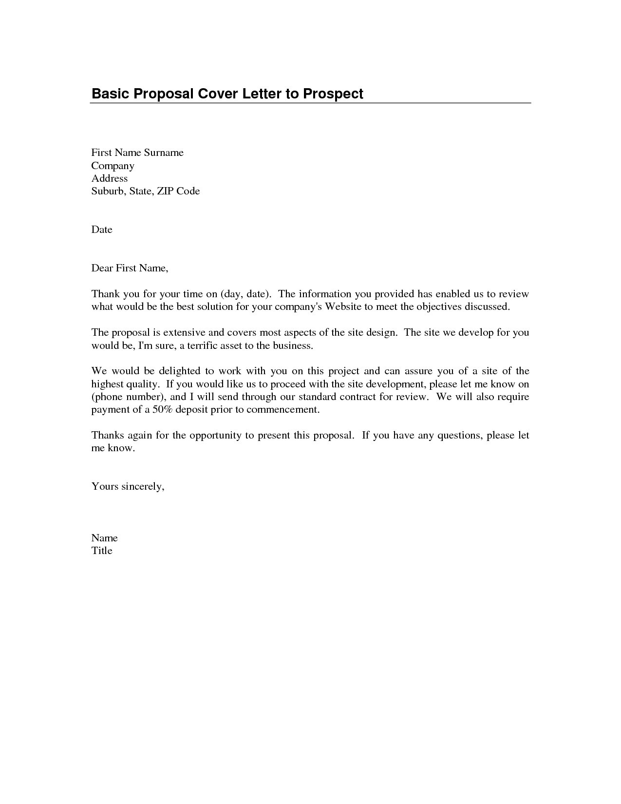 template of a business letter
