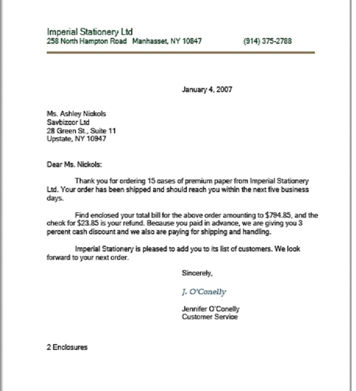 Modified Block Letter Template - Business Letter Modified Block format Example Archives