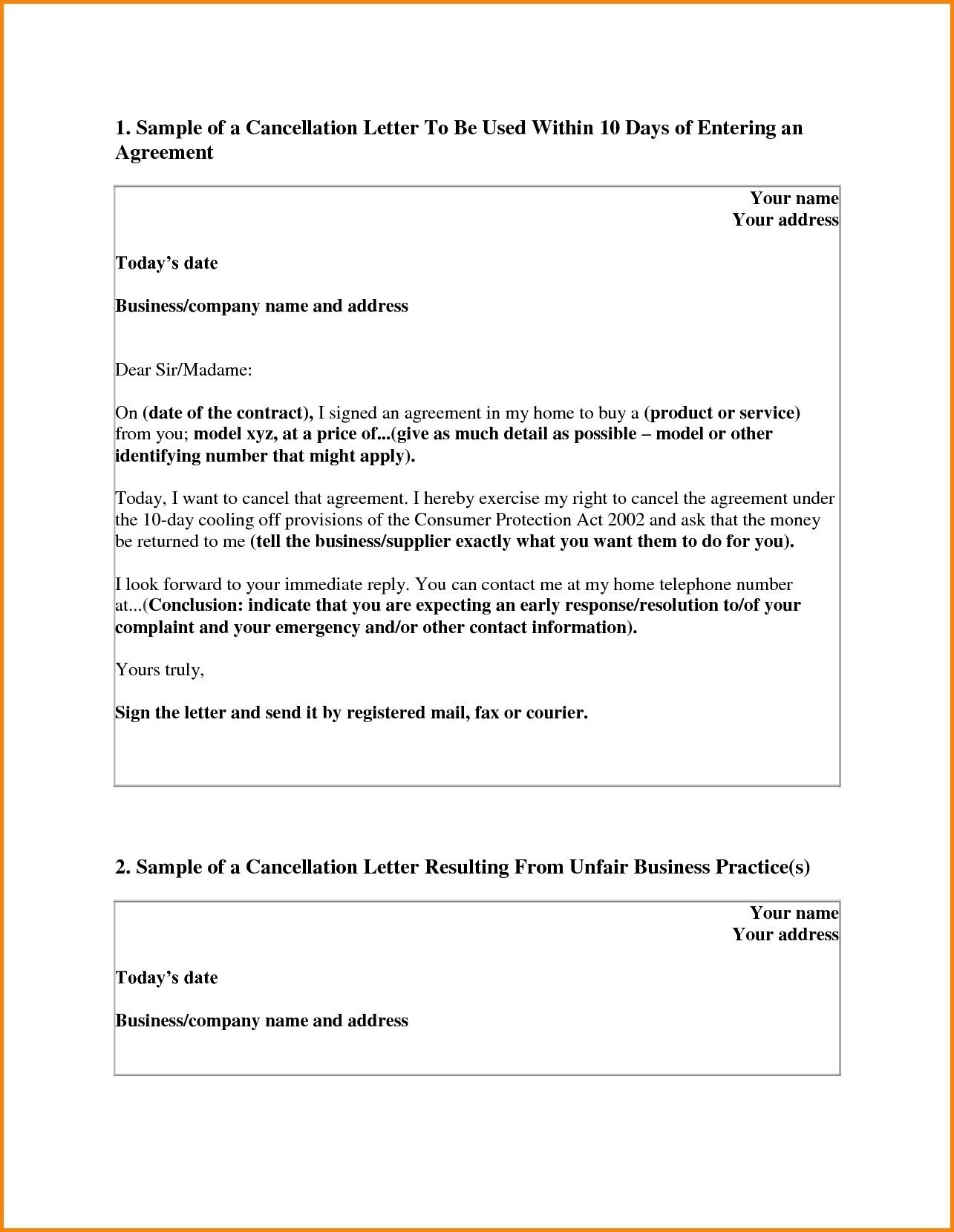 Timeshare Rescission Letter Template Samples Letter Template