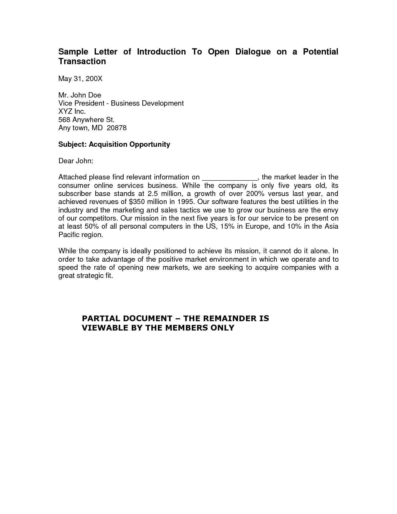 Cleaning Business Introduction Letter Template - Business to Business Introduction Letter Template Business