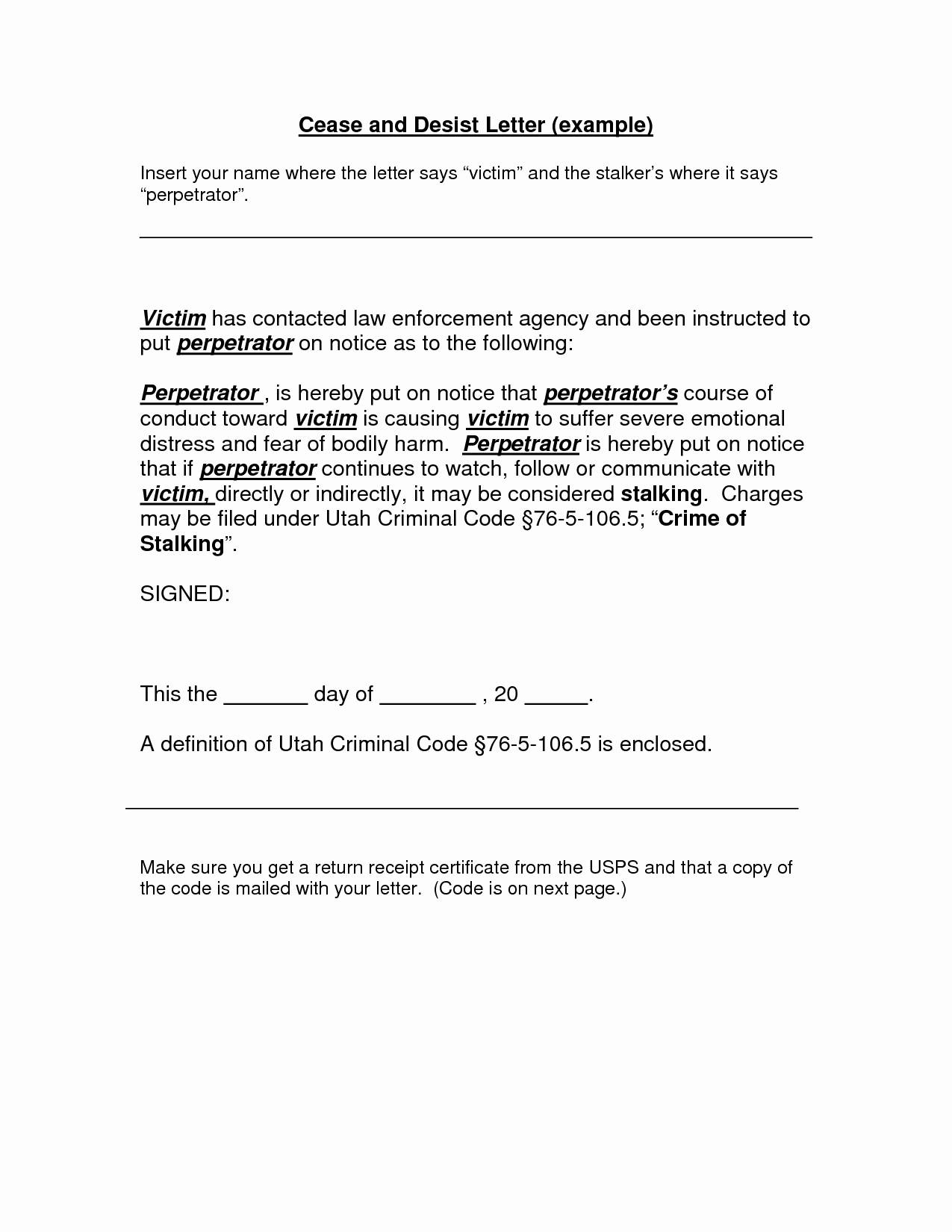 Cease and Desist Collection Letter Template - Cease and Desist Letter Template for Debt Collectors Inspirational