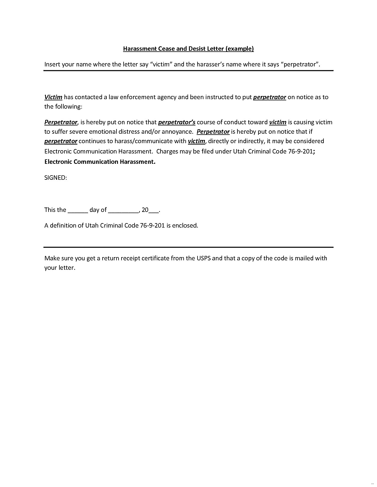 Free Cease and Desist Letter Template for Harassment - Cease and Desist Letter Template Itn Gctu Magnificent Harassment