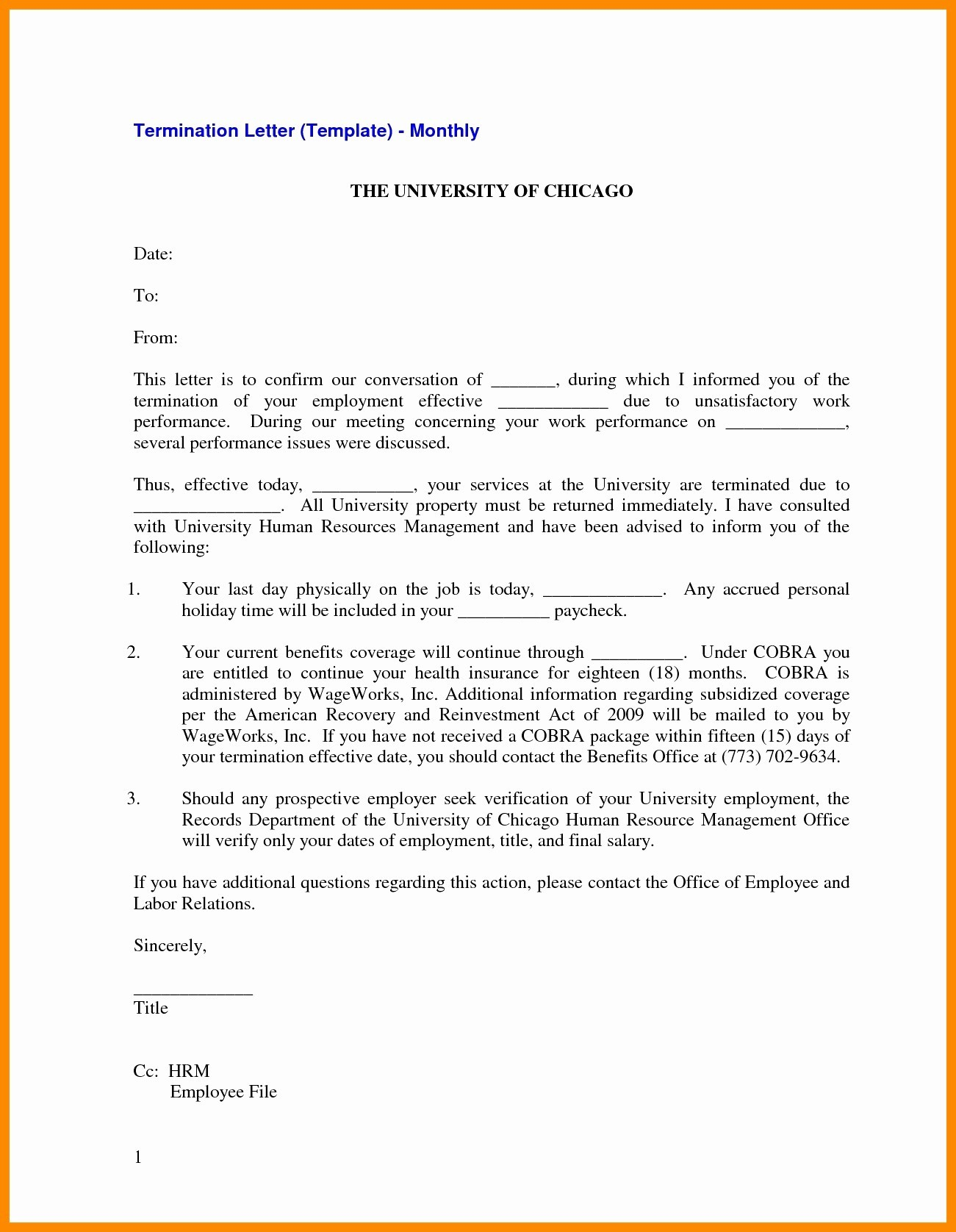 Letter Of Separation From Employer Template - Certificate Separation From Employment Sample Philippines New