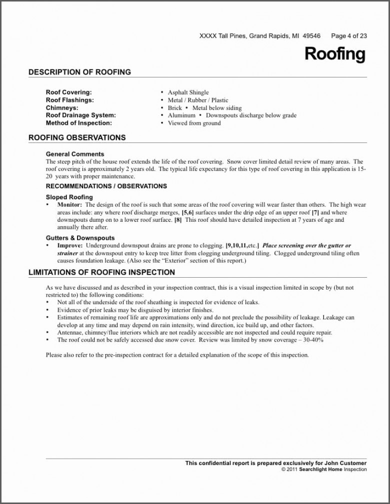 Roof Inspection Letter Template - Certificate Templates Roofing Warranty Certificate Template Free