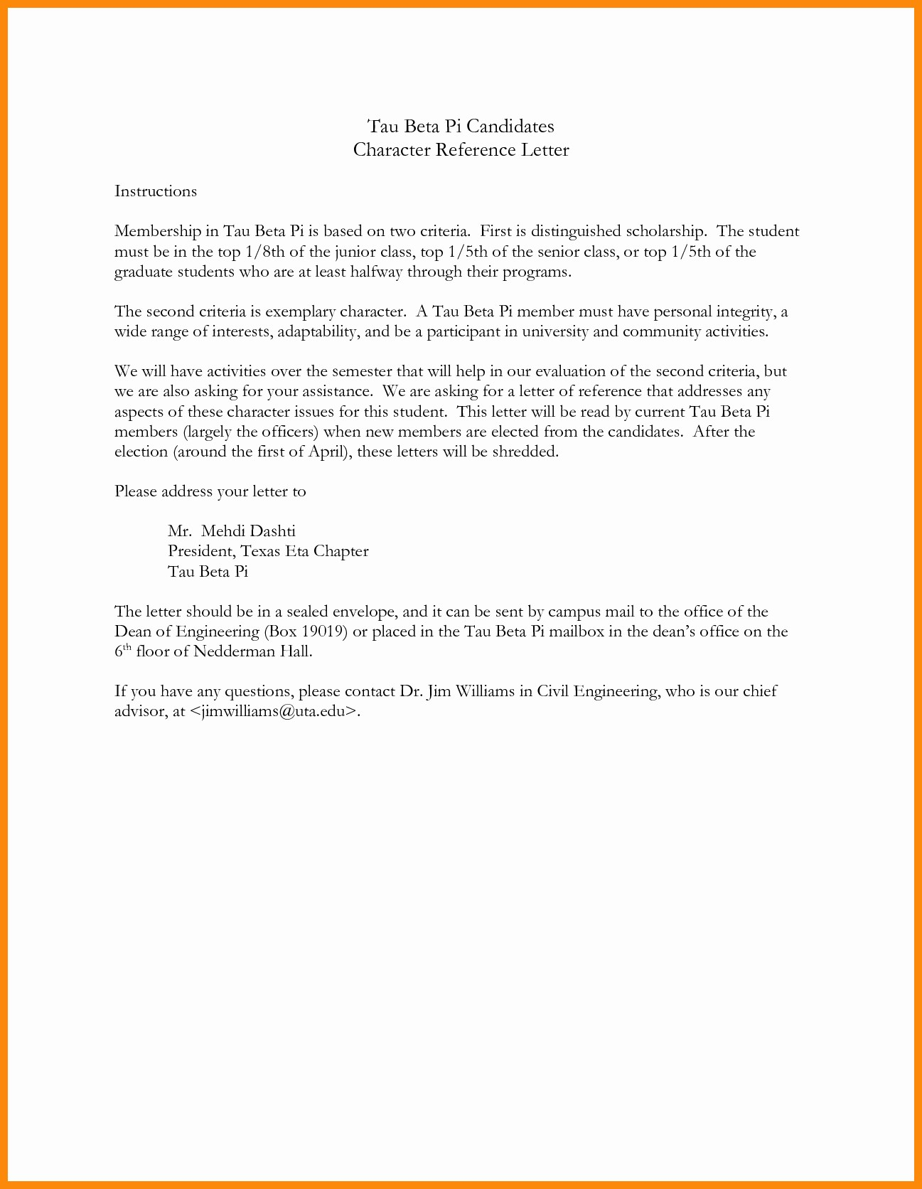 Personal Character Reference Letter Template Resume Luxury Employment