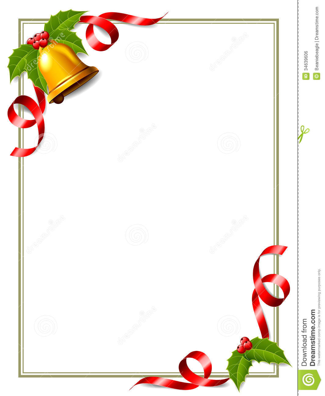 christmas letter border template collection letter template collection