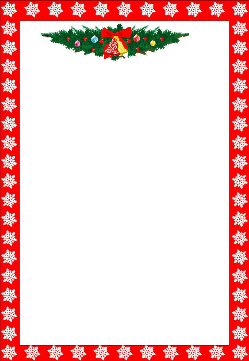 Christmas Letter Border Template - Christmas Clip Art Borders