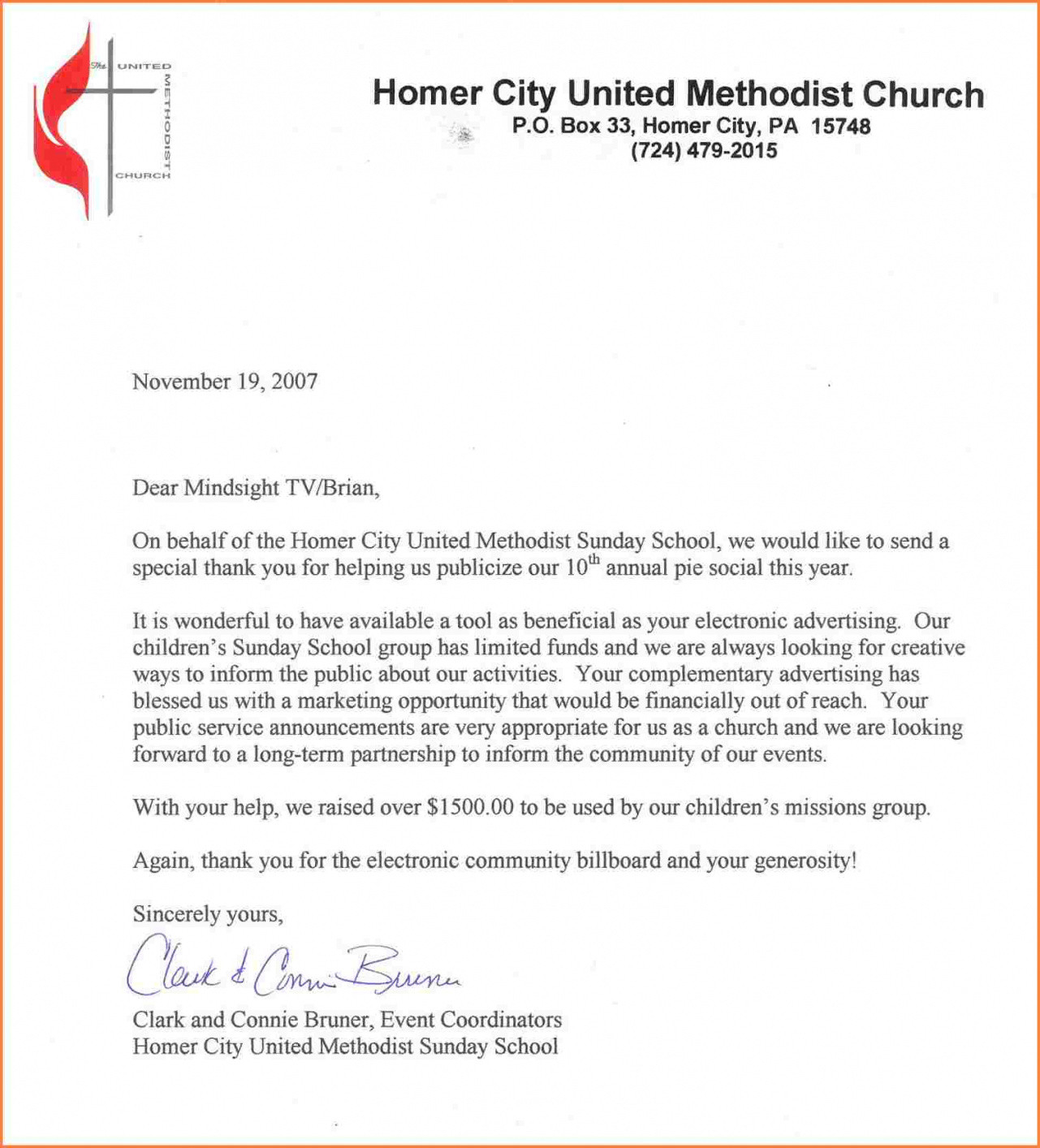 Donation Letter Template For Church Samples Letter Template Collection