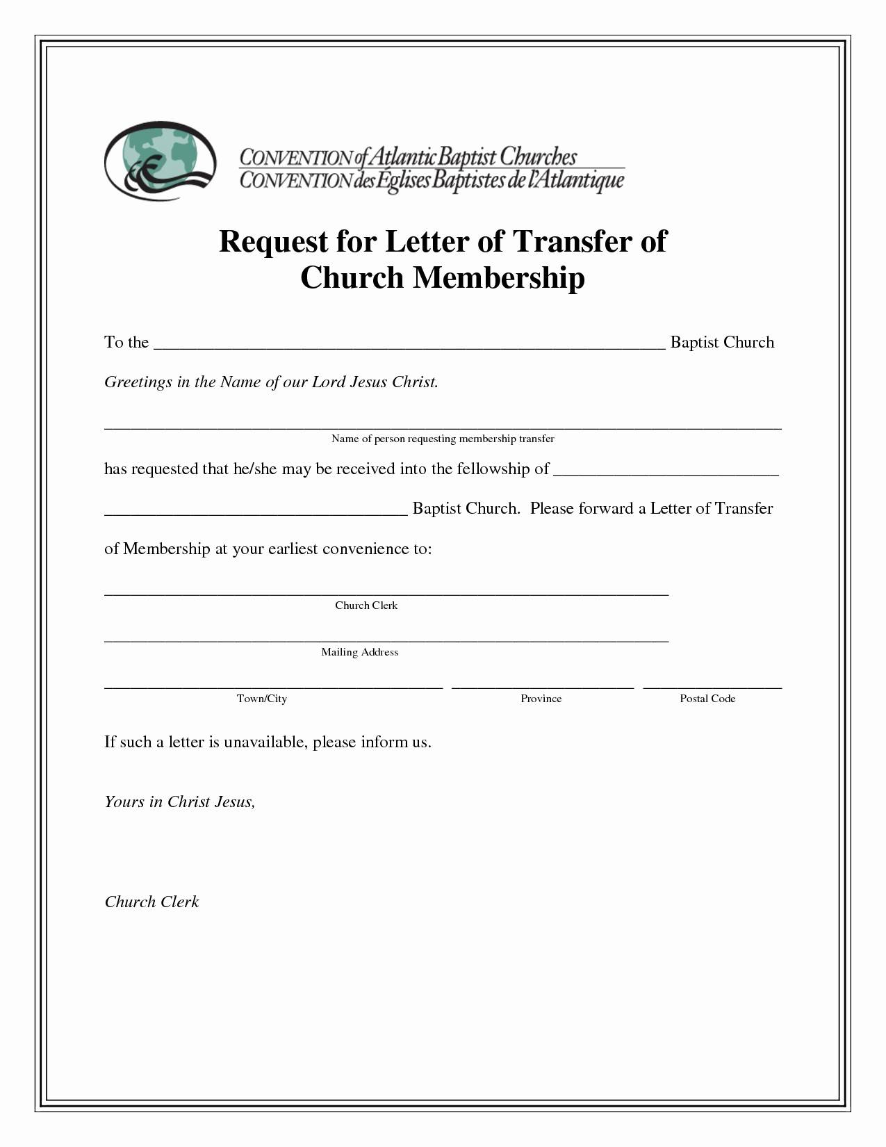 sample church membership transfer letter template church membership certificate template luxury church transfer letter