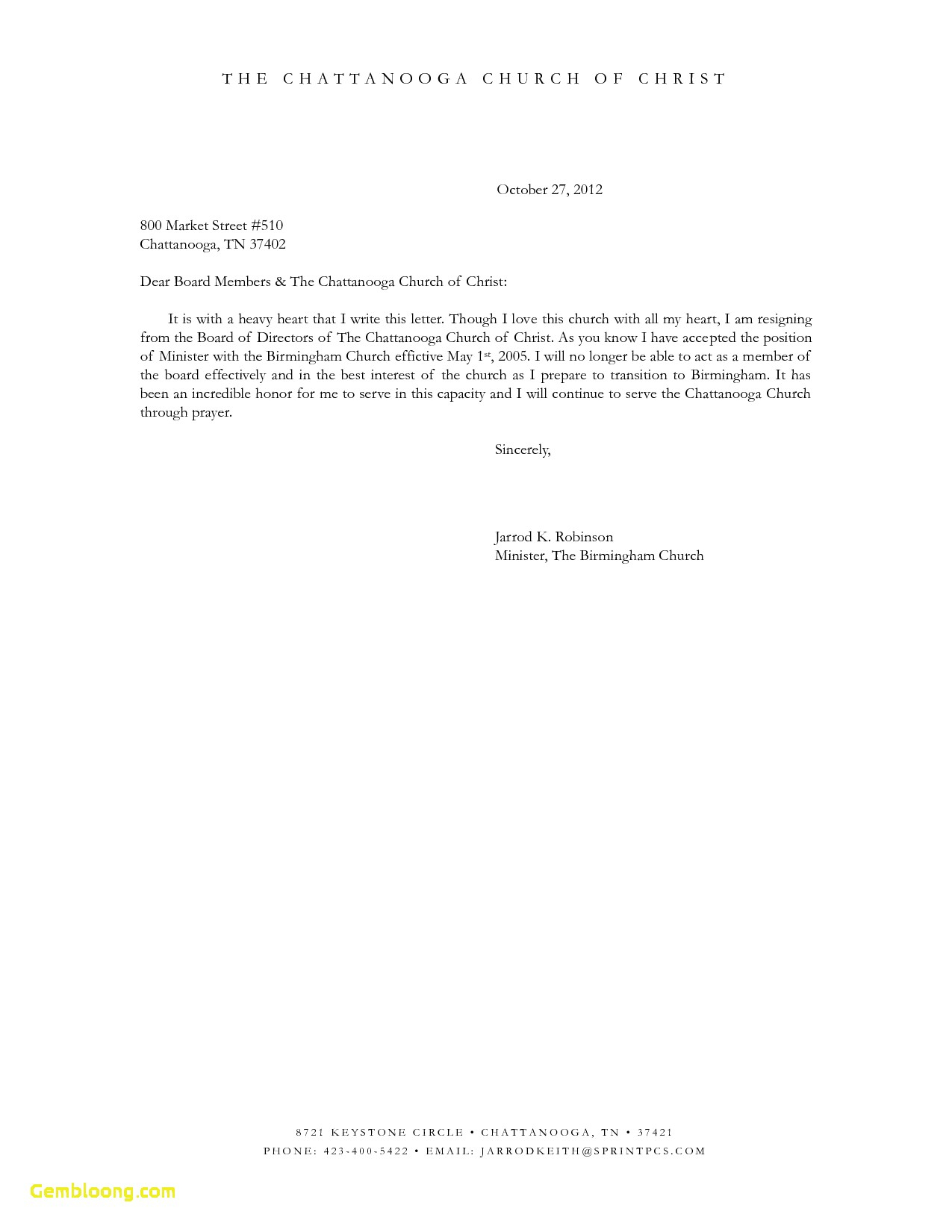 Church Membership Letter Template - Church Resignation Letter Sample Cover Letter Church Membership