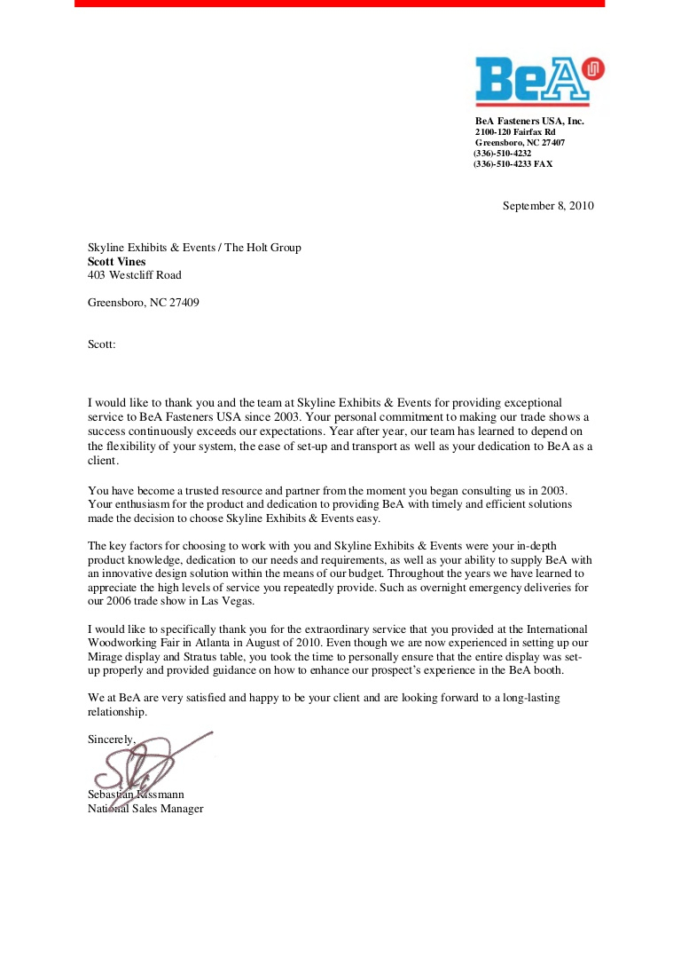 Customer Reference Letter Template - Client Letters Of Re Mendation