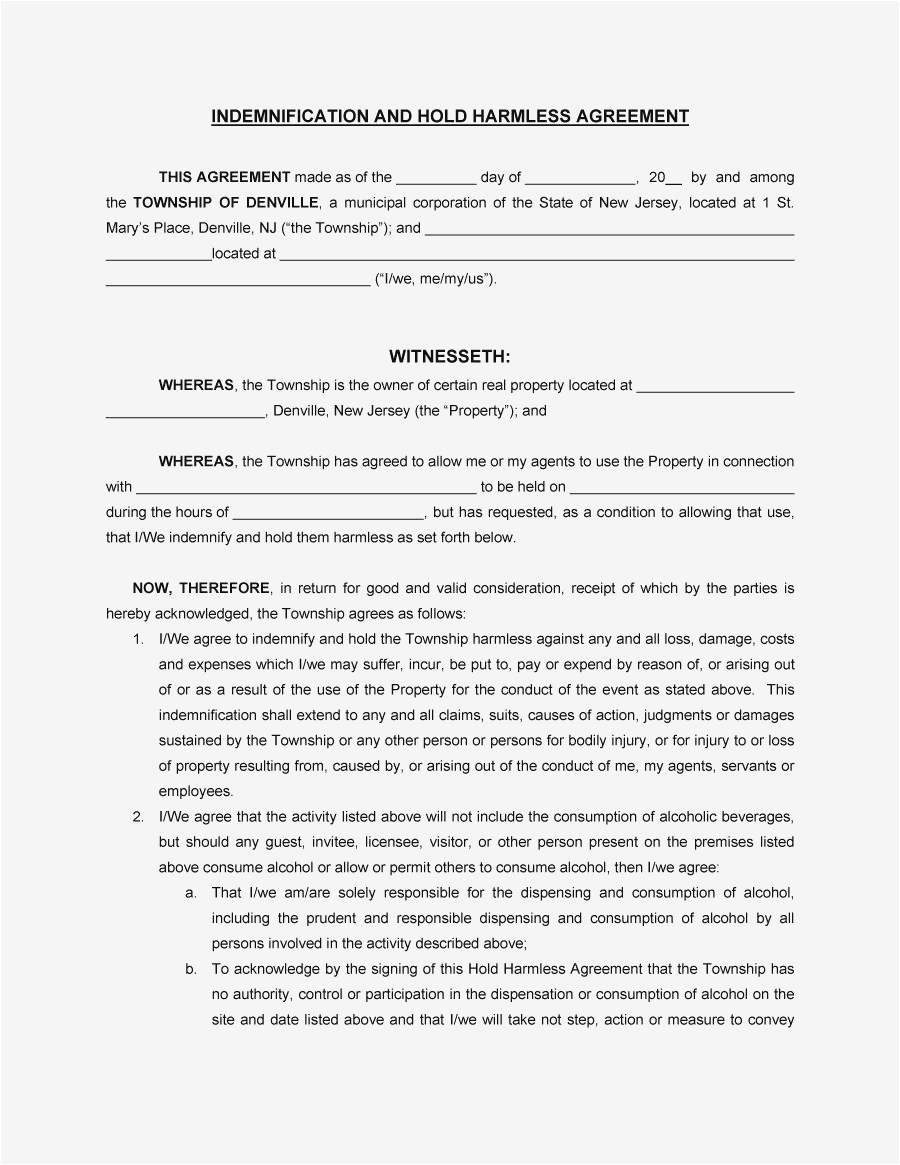 hold harmless letter template example-New Cohabitation Agreement Download 17-t
