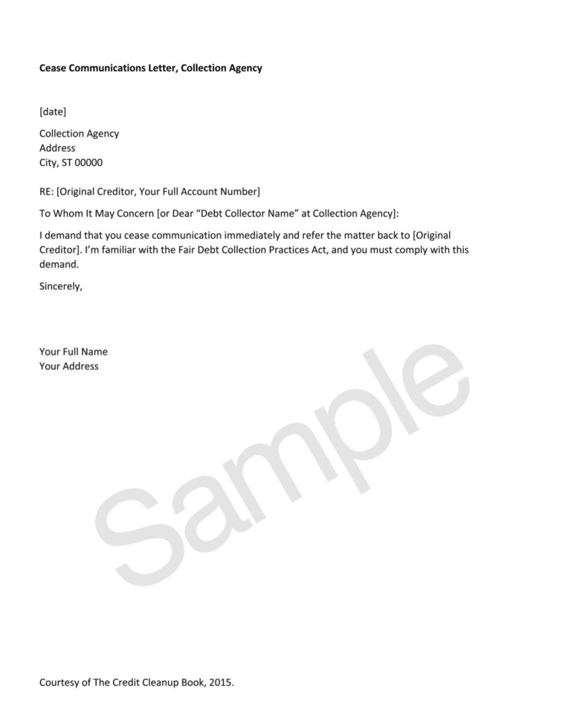 Credit Agency Dispute Letter Template Collection | Letter Template
