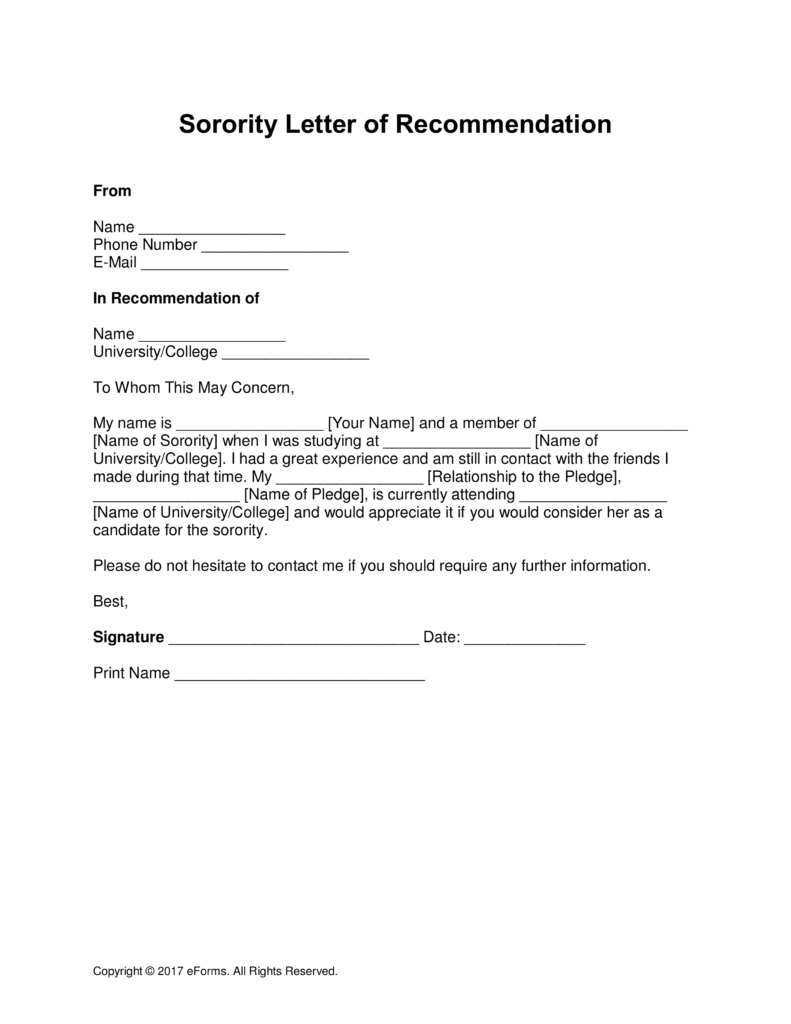 Alumni Letter Of Recommendation Template - Collegeation Letter From Alumni Examples sorority Template 791—1024