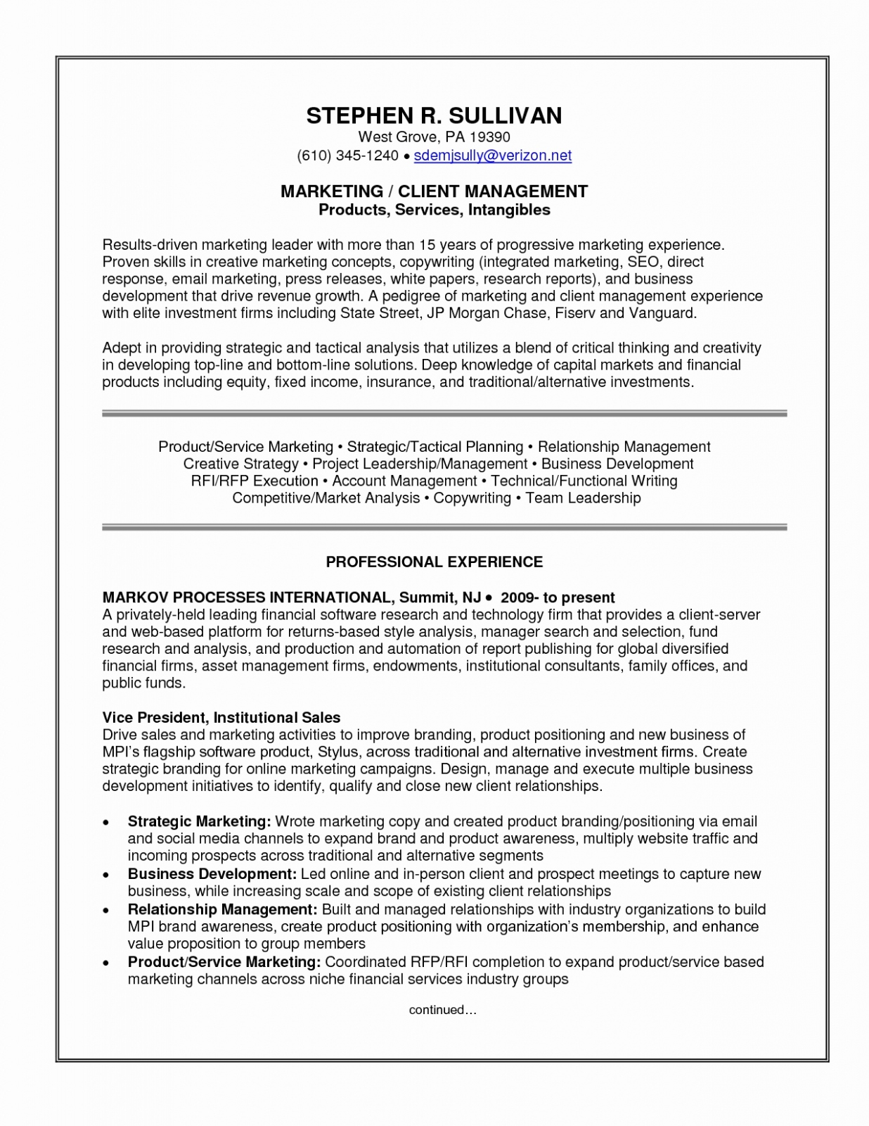 Property Management Proposal Letter Template - Consulting Resume format — Resumes Project