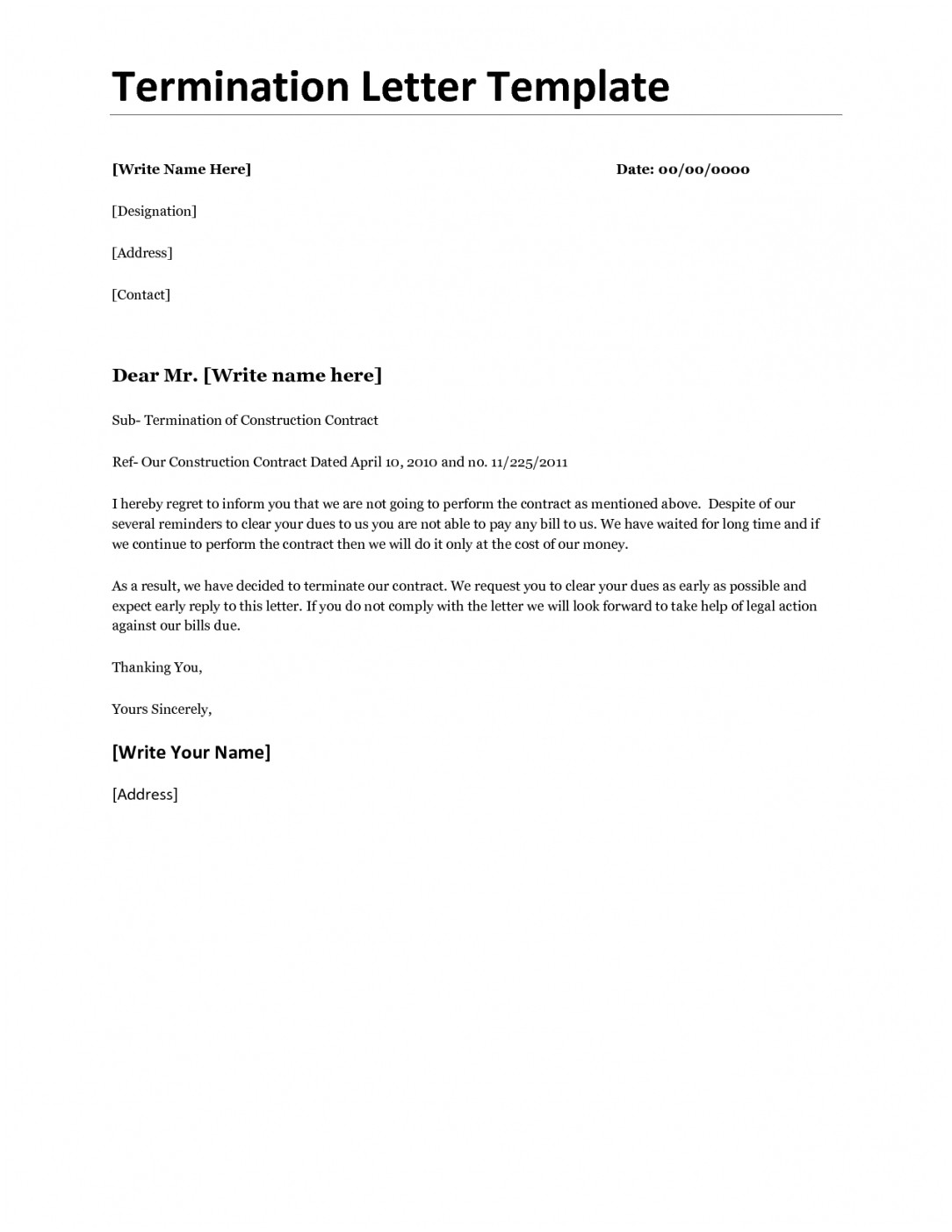 Timeshare Cancellation Letter Template Samples | Letter
