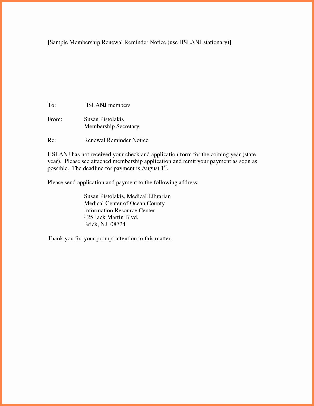 Lease Renewal Reminder Letter Template - Contract Renewal Letter Template New Renewal Letter Sample Fresh 10