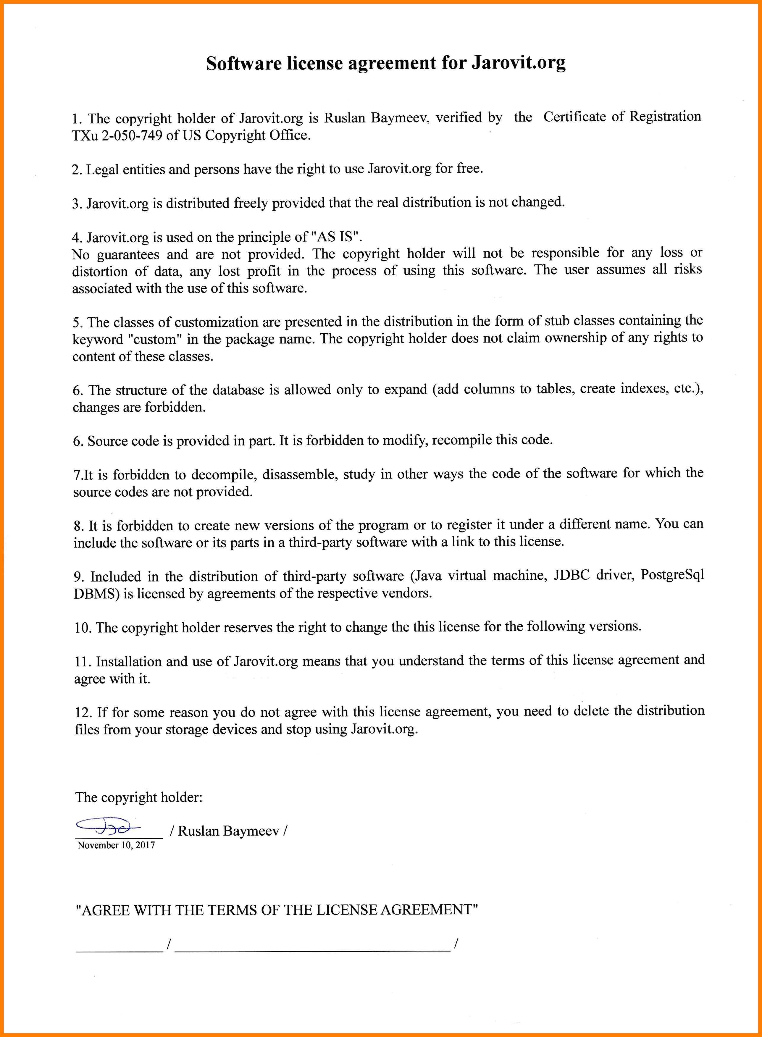 Copyright Permission Letter Template - Copyright License Agreement Template Personalinjurylovete