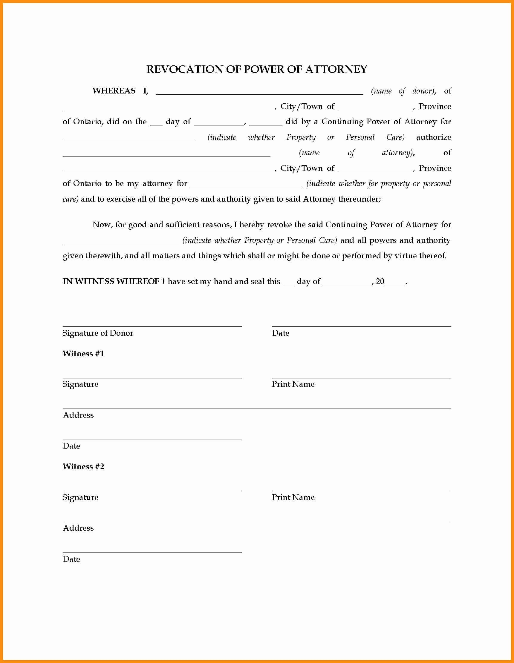 General Power Of attorney Letter Template - Corporate Power attorney Template