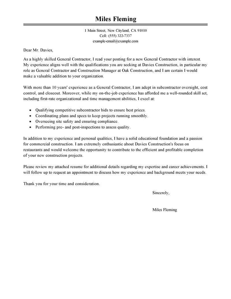 Contract Amendment Letter Template - Cover Letter for Contract Agreement Acurnamedia