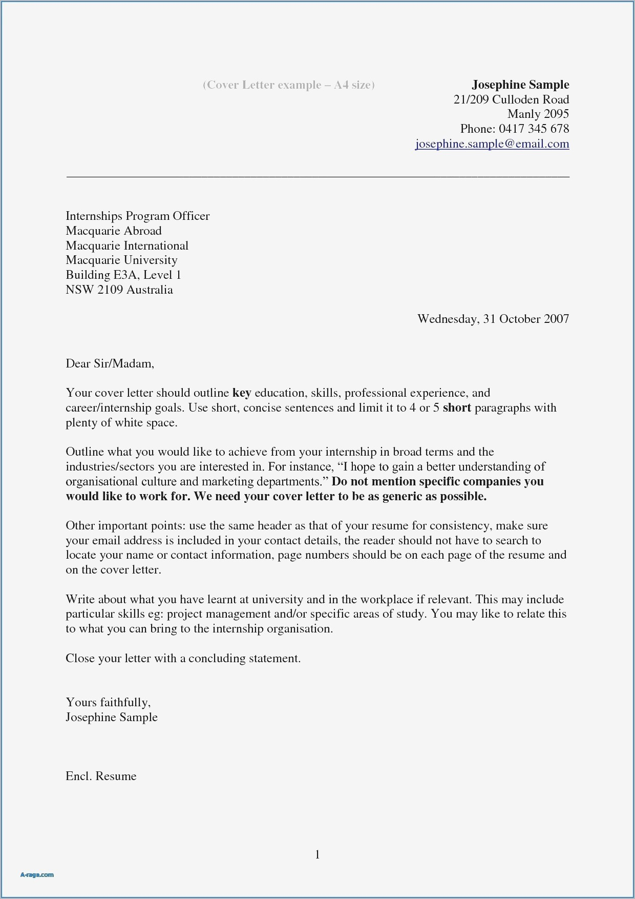 company letter template examples