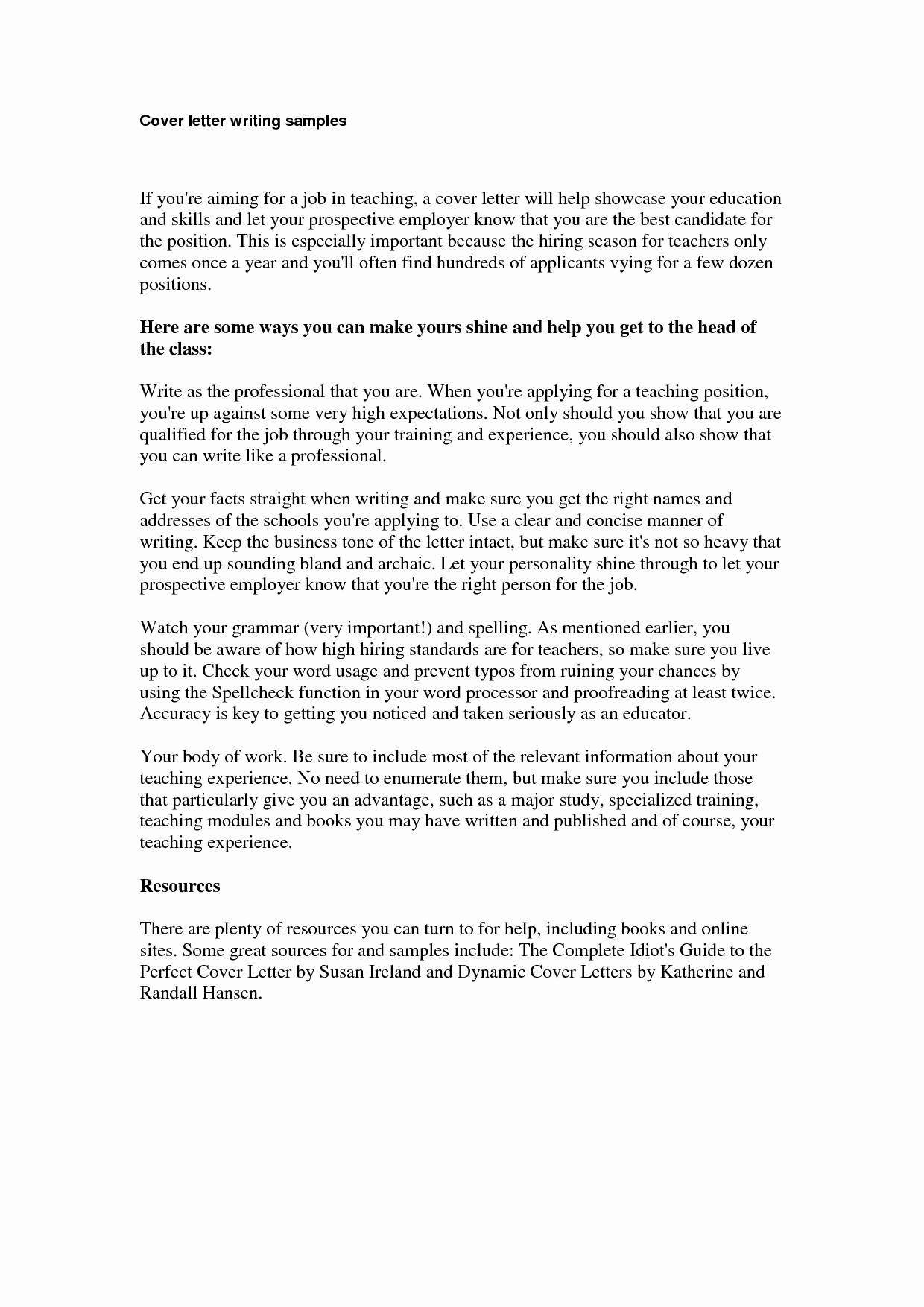 Job Application Cover Letter Template Word - Cover Letter for Potential Job Opening