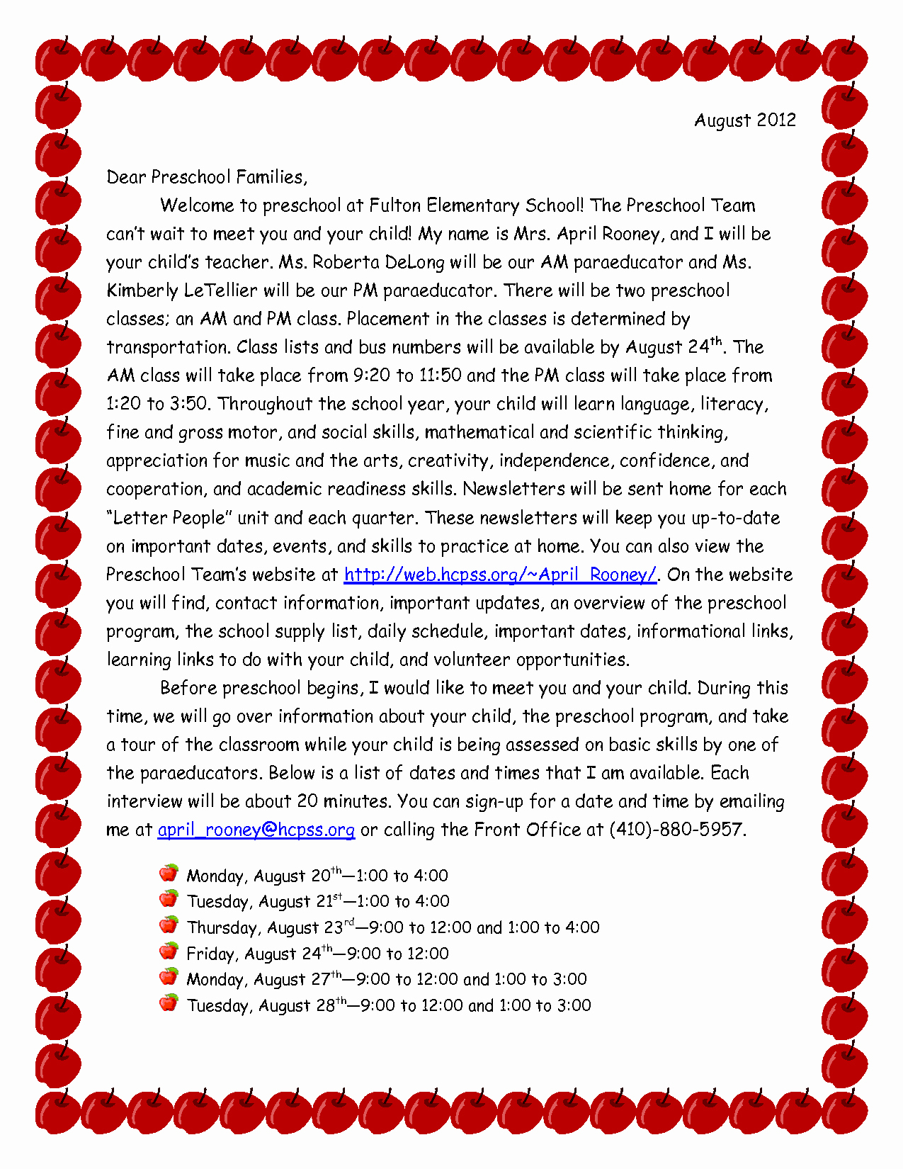 Preschool Welcome Letter Template - Cover Letter for Preschool Teacher Awesome Preschool Wel E Letter to