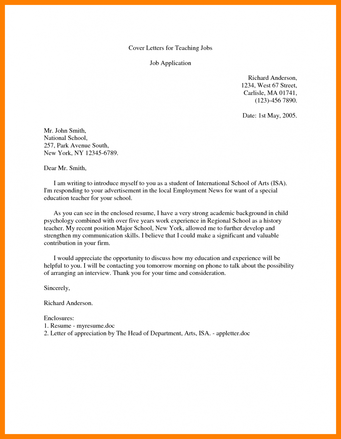 Letter Of Introduction Template for Employment - Cover Letter Introduction