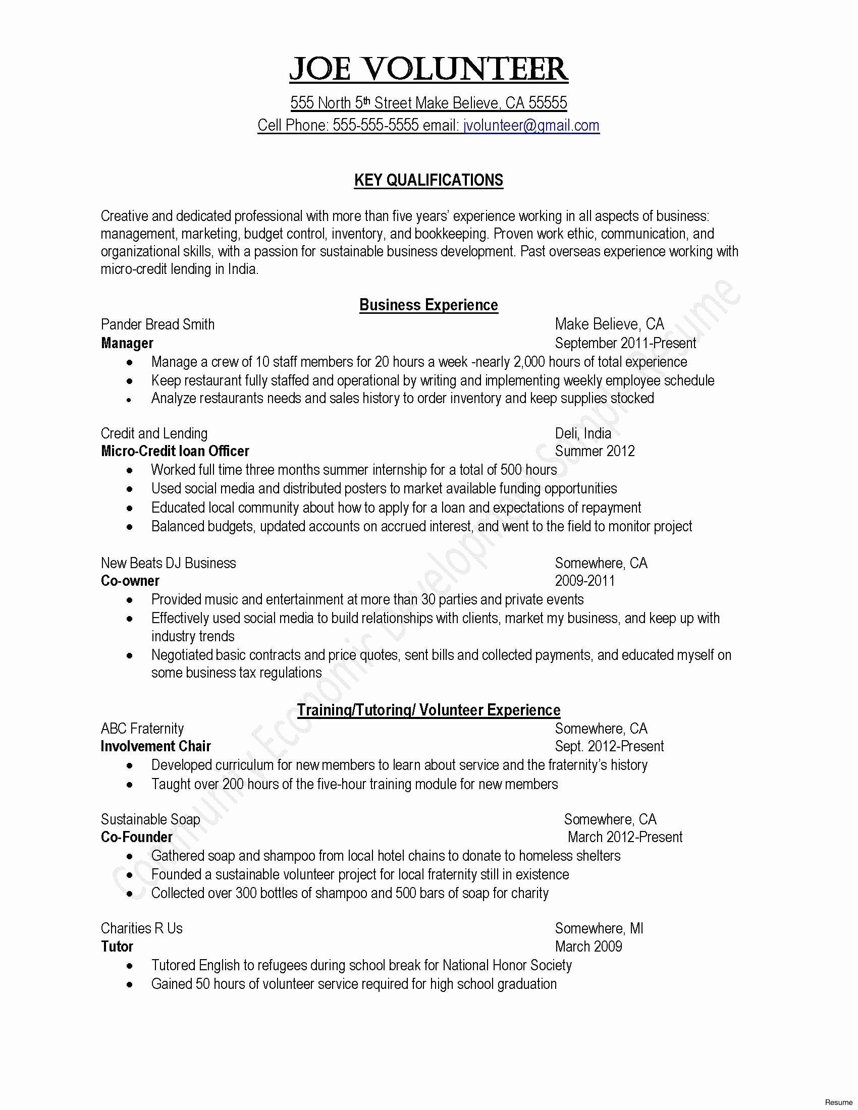 Professional Resume and Cover Letter Template Examples