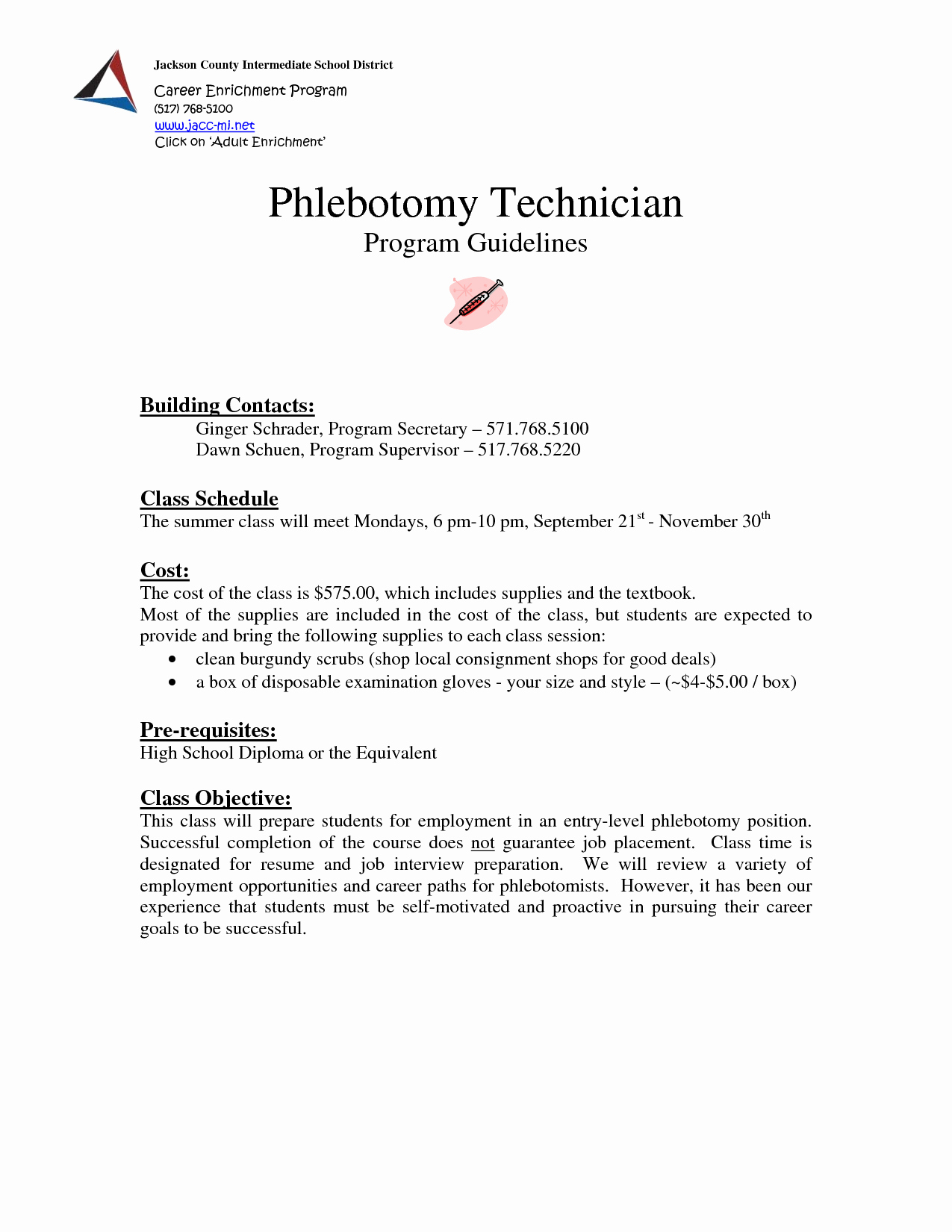 Phlebotomy Cover Letter Template Samples Collection