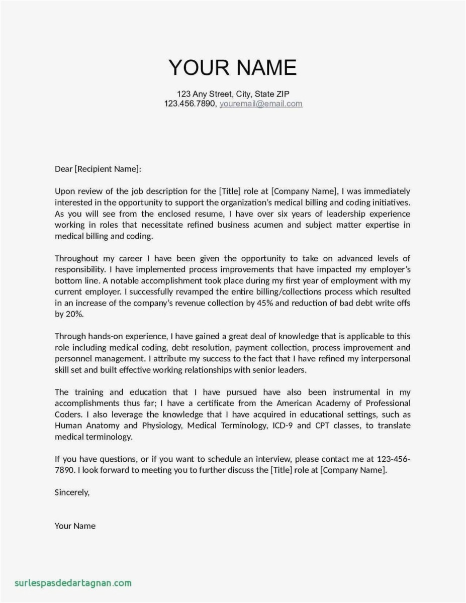 Education Cover Letter Template - Cover Letters for Resume Template Fresh Job Fer Letter Template Us