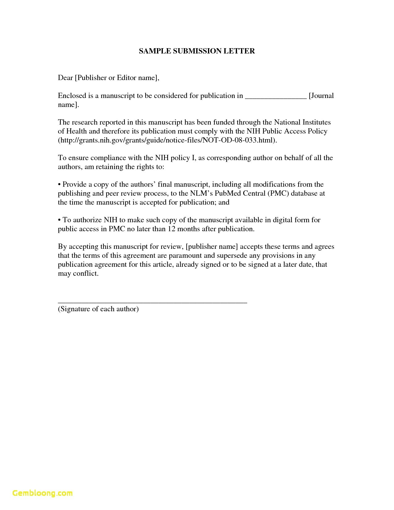 Submittal Cover Letter Template - Covering Letter format for Document Submission