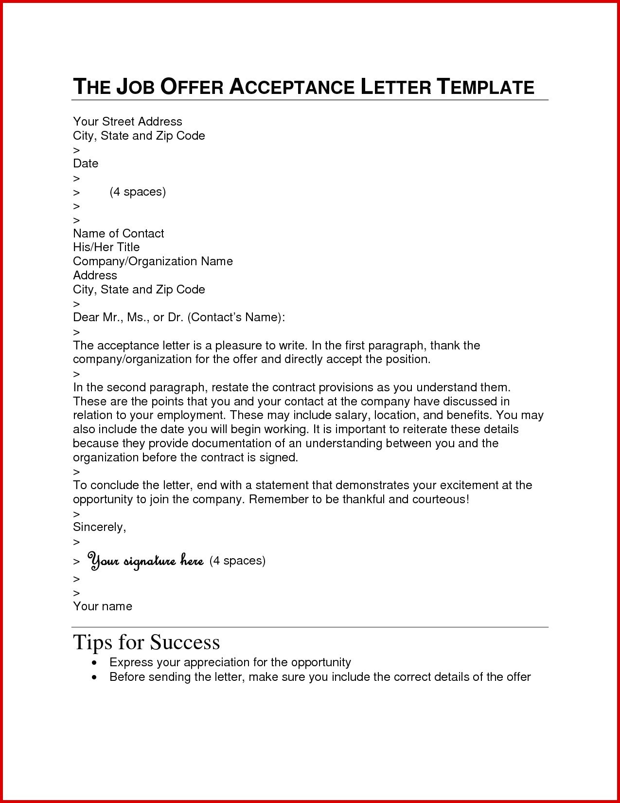Job Offer Letter Template Pdf Examples Letter Template Collection