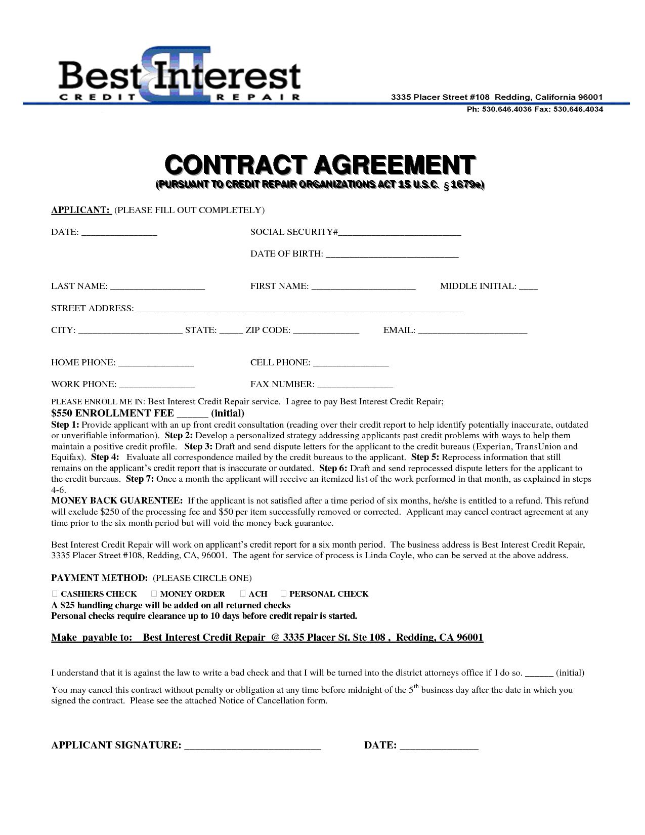 Repossession Dispute Letter Template - Credit Repair Contract Template Credit Repair Secrets Exposed Here