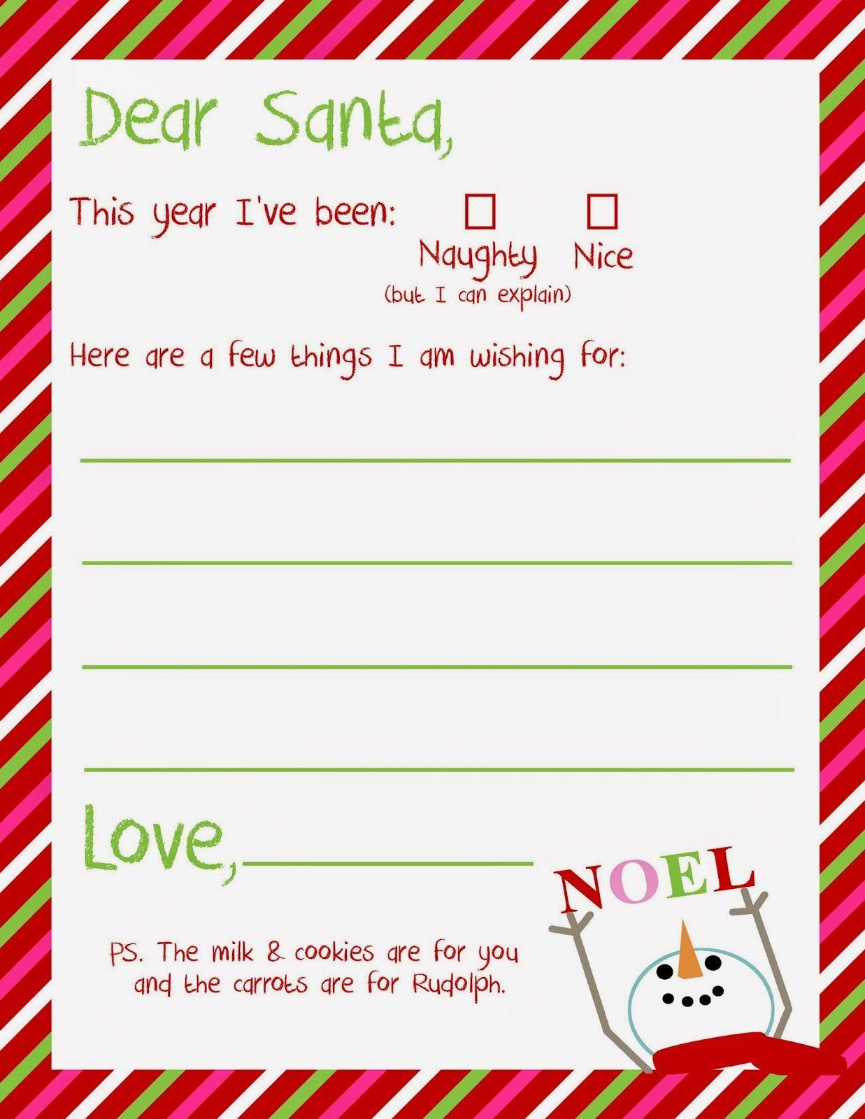 Dear Santa Letter Template - Dear Santa Letter Printable