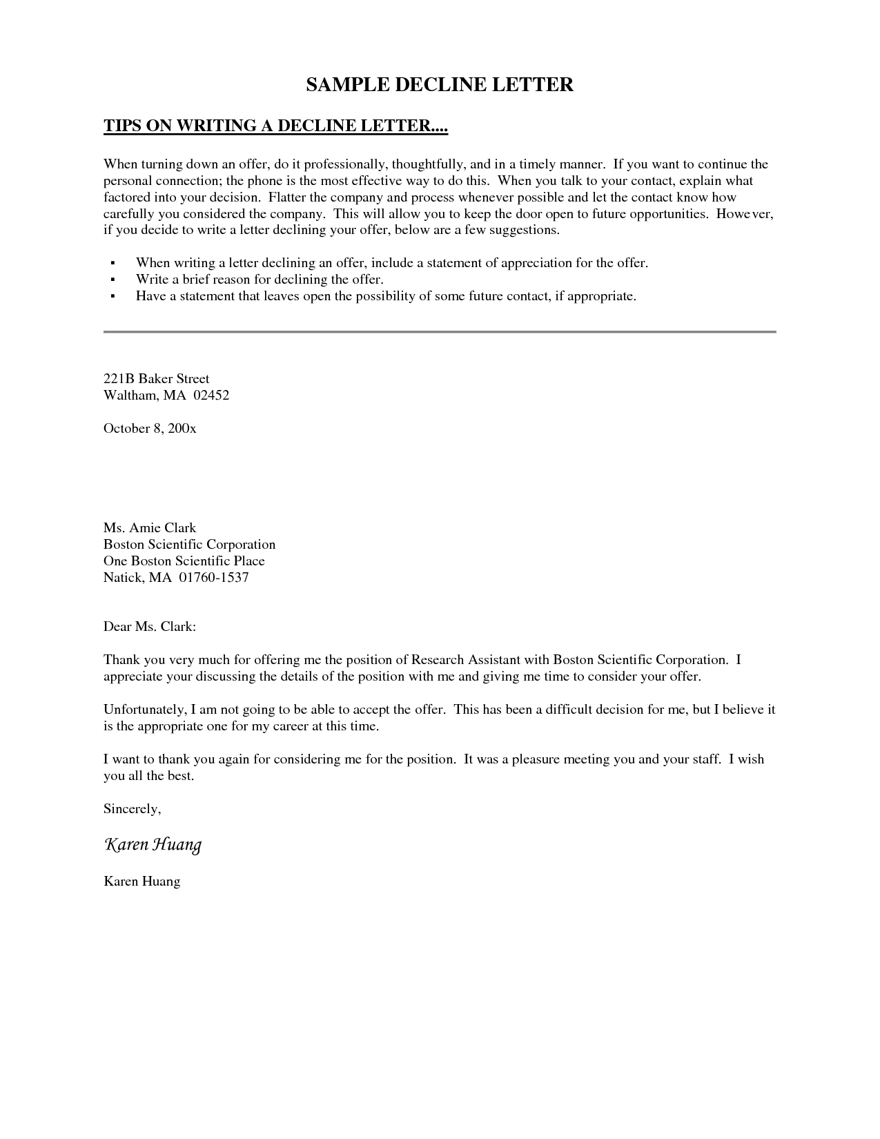 Proof Of Loss Of Coverage Letter Template - Decline Invitation Letter This Letter Template Declines An